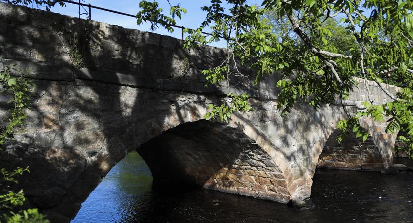 Bridge with water beneath.